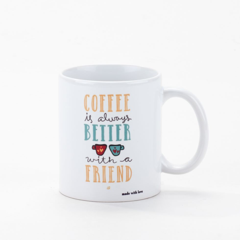 Чашка Coffee is always better with a friend, 330 мл, 19-724